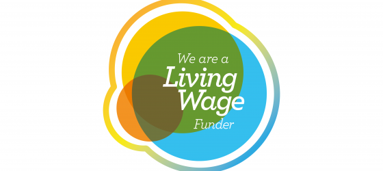 We Are A Living Wage Funder logo